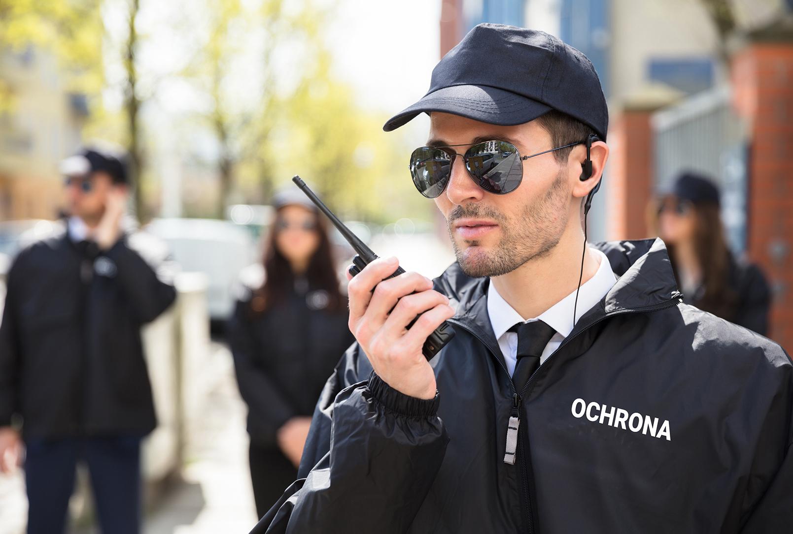 ochroniarz agencji ochrony